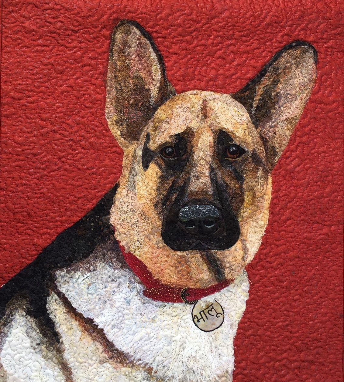 Bhalu The German Shepherd By Rosemary Burris Black German