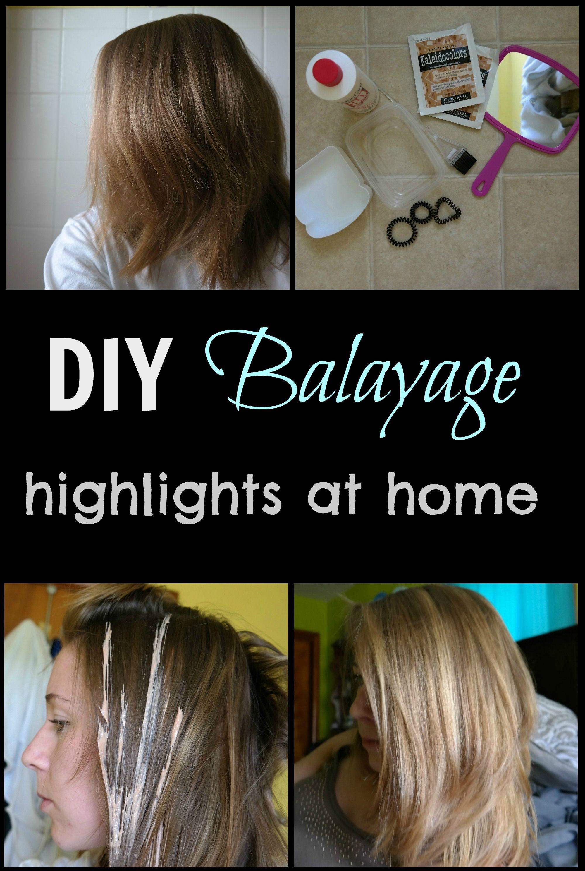 Diy balayage highlights at home tutorial cheap and easy