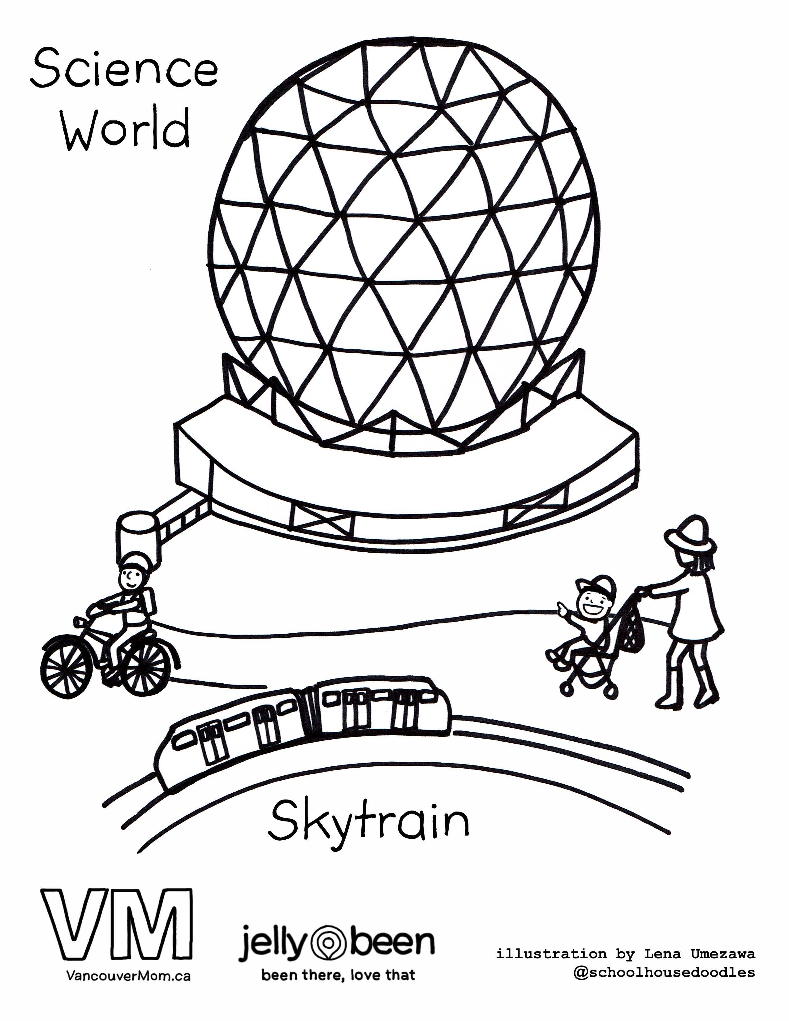 science world vancouver colouring pages kids stuff we love
