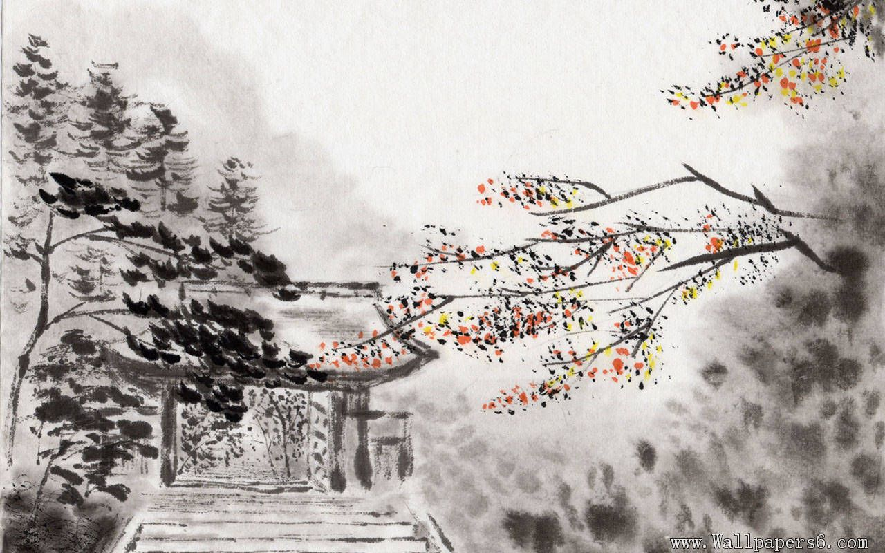 Chinese Ink Landscape Paintings Wallpapers