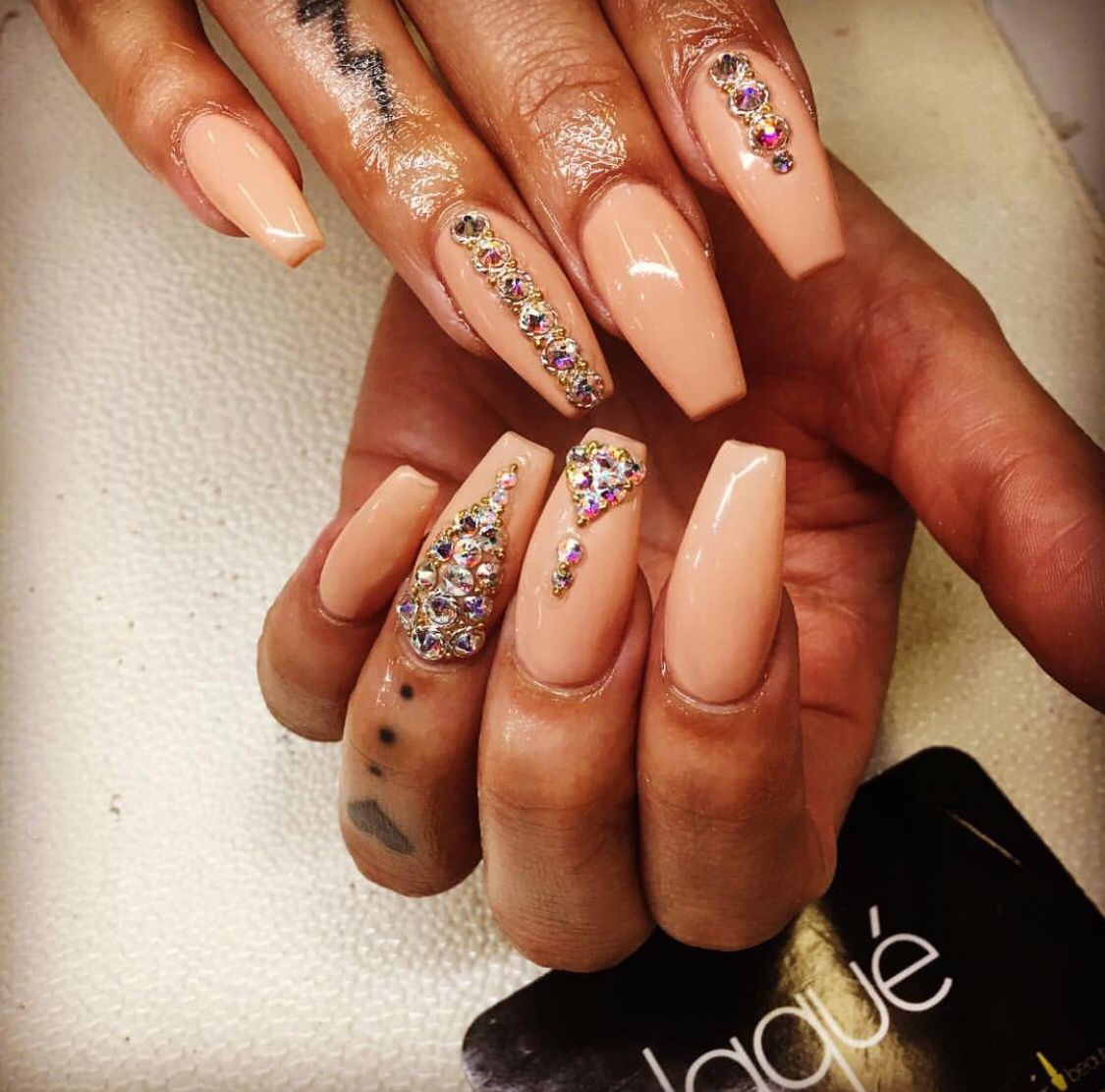 Love the stone design on these fab nails - Love The Stone Design On These Fab Nails Artsy Fartsy Nails