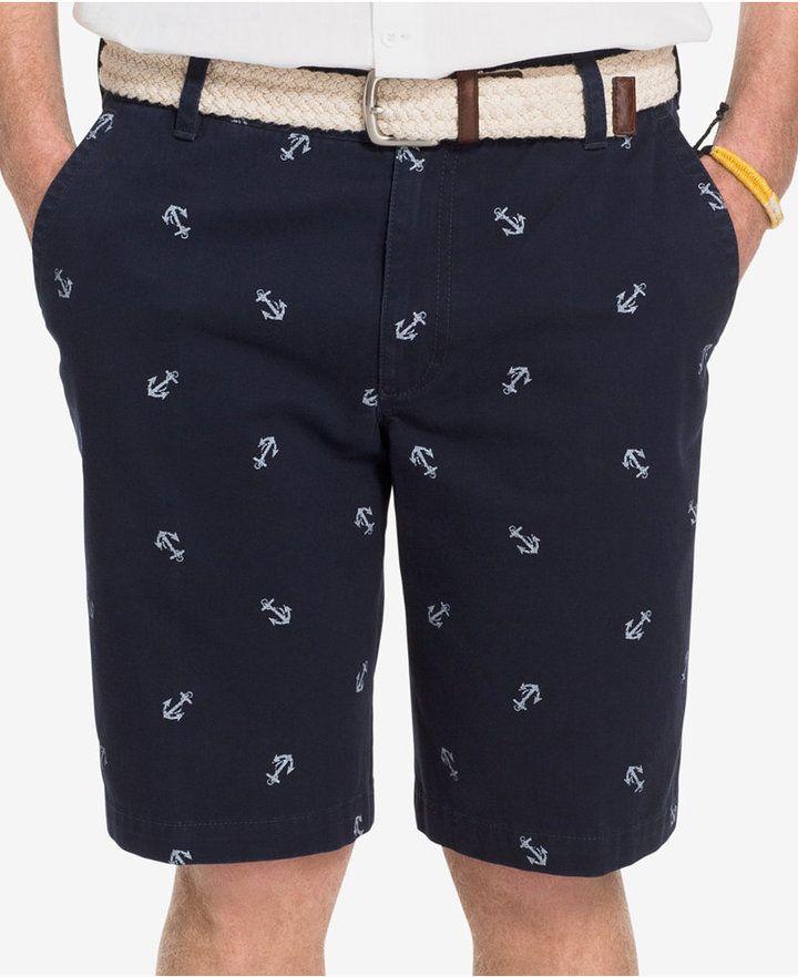 c941421ead IZOD Men's Anchor-Print Shorts   Estilo Calor Casual   Anchor shorts ...