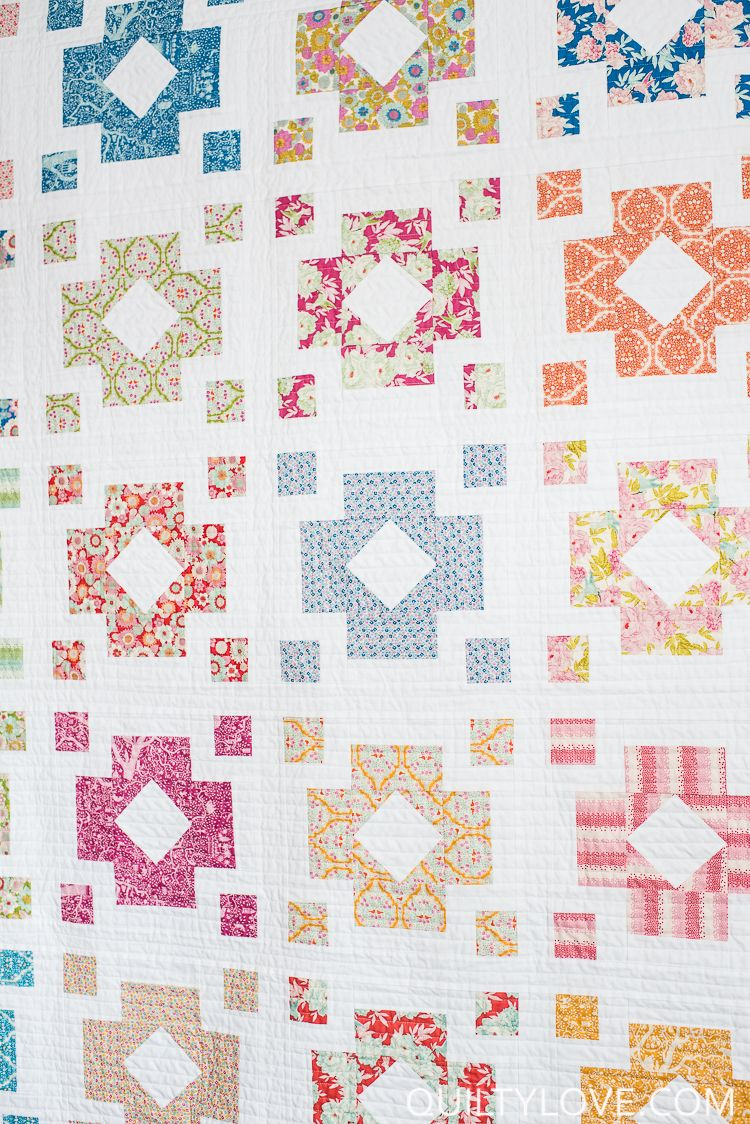 Diamond Lanterns Quilt Pattern - The Tilda fabrics one | patchwork ...