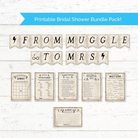 6c8de42430c Harry Potter Bridal Shower Printable Bundle Pack