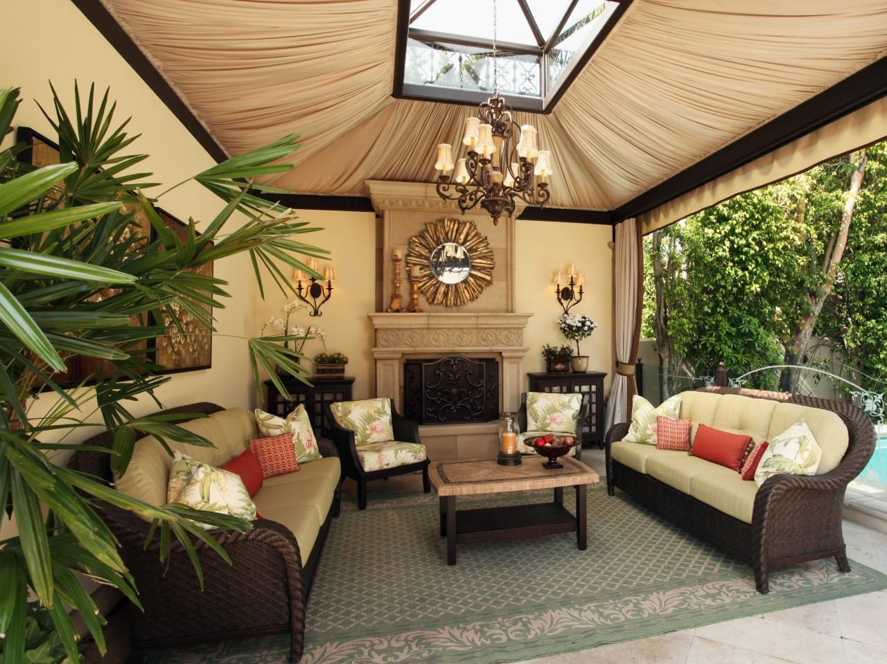 outdoor living room design. Designer Christopher Grubb Transforms A Typical Backyard Into High End  Lavish Outdoor Living Space Featuring Kitchen Dining Room And Pool Luxurious Backyard Retreat Outdoor Living Spaces