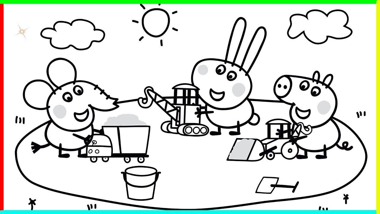Cute Peppa Pig Coloring Pages From The Thousand Photographs On The Internet Regarding Cute Peppa Pig Coloring Pages We Al Kleurplaten Knutselideeen Tekenen