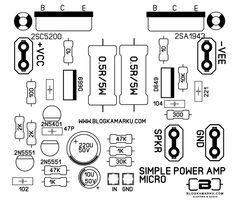 layout pcb amplifier Simple Micro amp (Dengan gambar