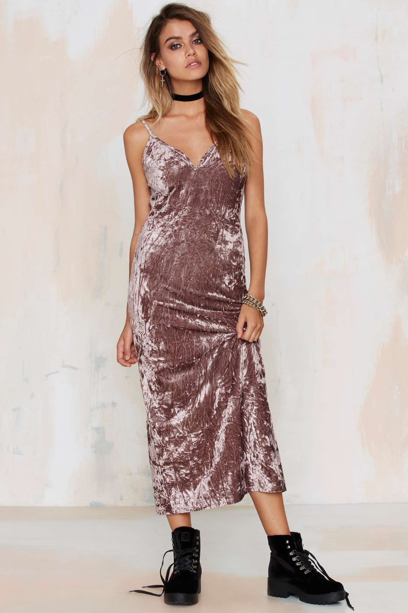 Wicked game crushed velvet dress shop clothes at nasty gal