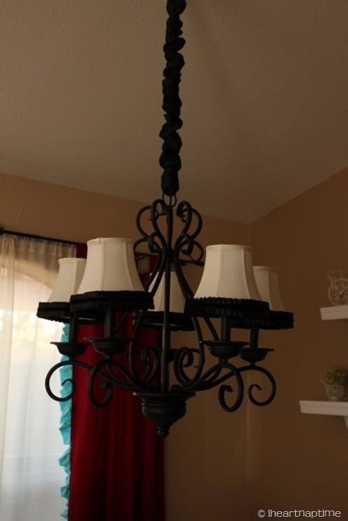 Chandelier makeover for dining room diy furniture pinterest chandelier makeover for dining room aloadofball Image collections