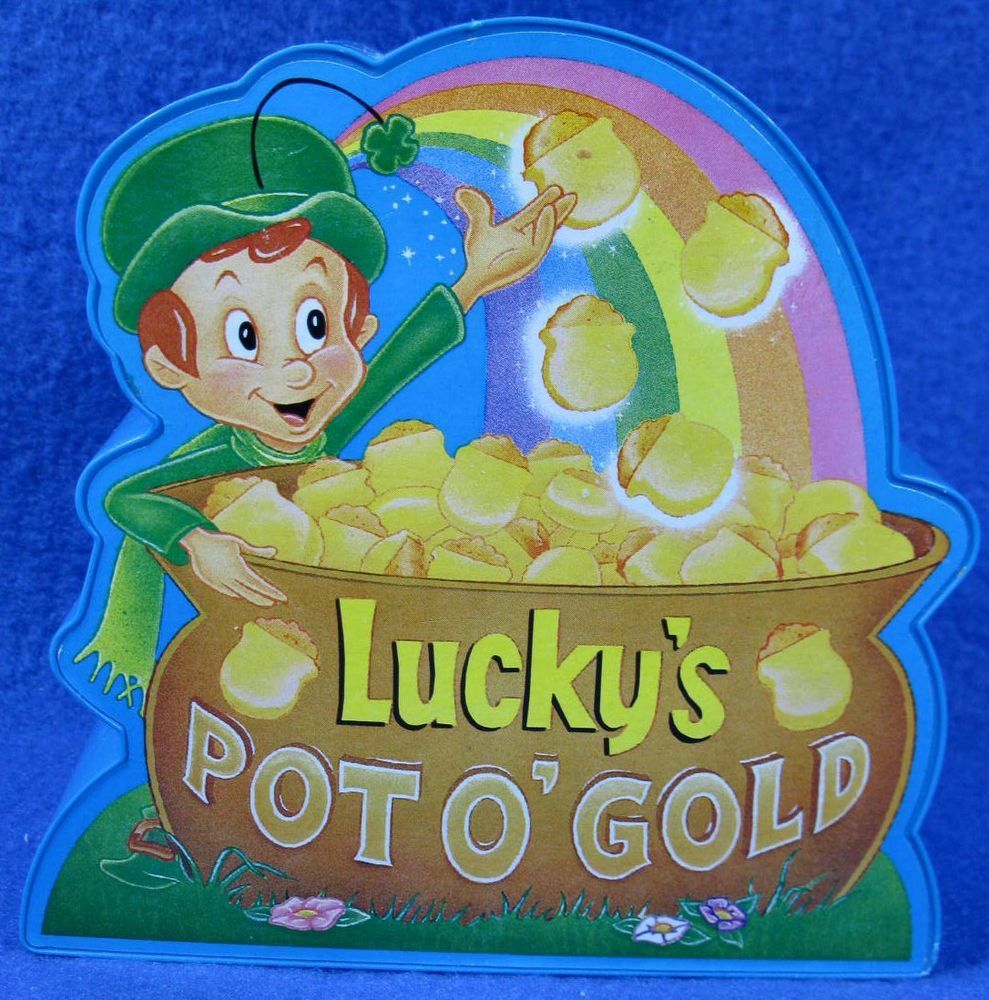 LUCKY'S Lucky Charm Cereal POT O' GOLD Plastic Coin Bank
