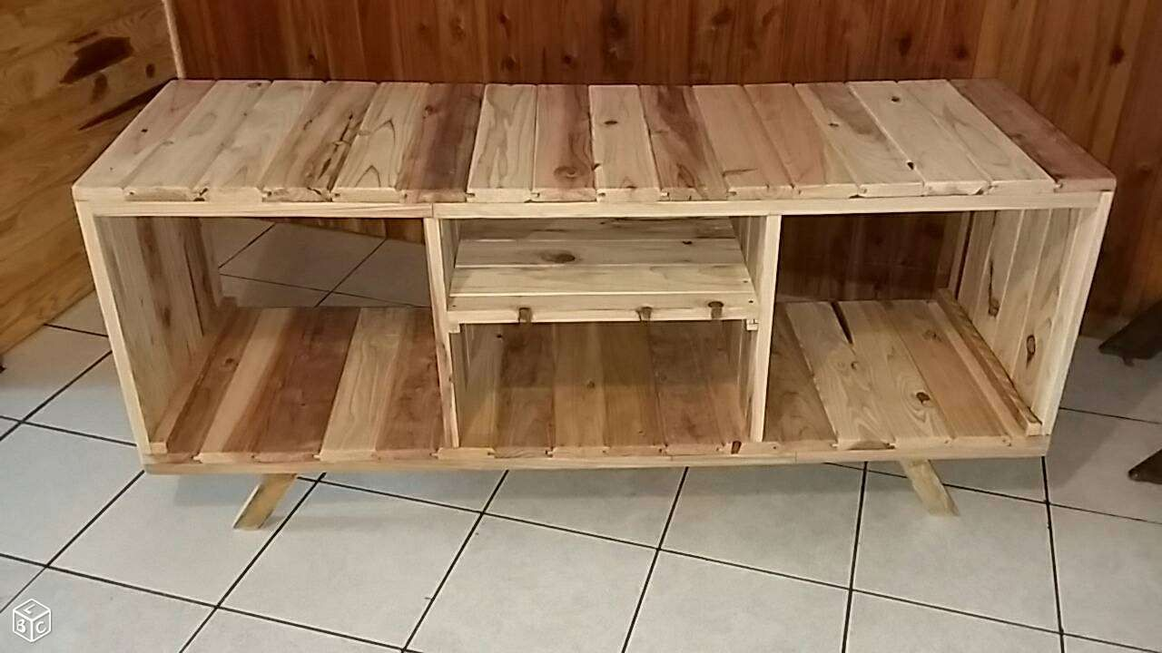 Meuble Tv En Bois Recycle Ameublement Reunion Leboncoin Fr Moveis De Paletes Moveis Madeira Diy