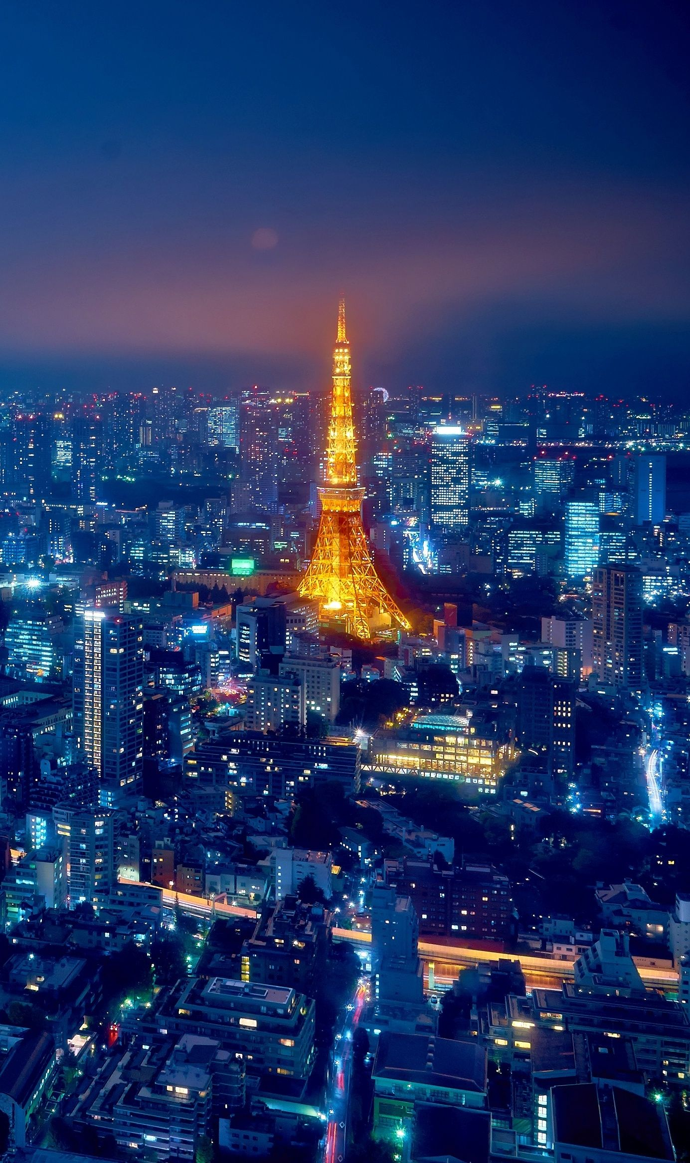 Night View Of Tokyo, Japan Cropped Photo By Moyan Brenn