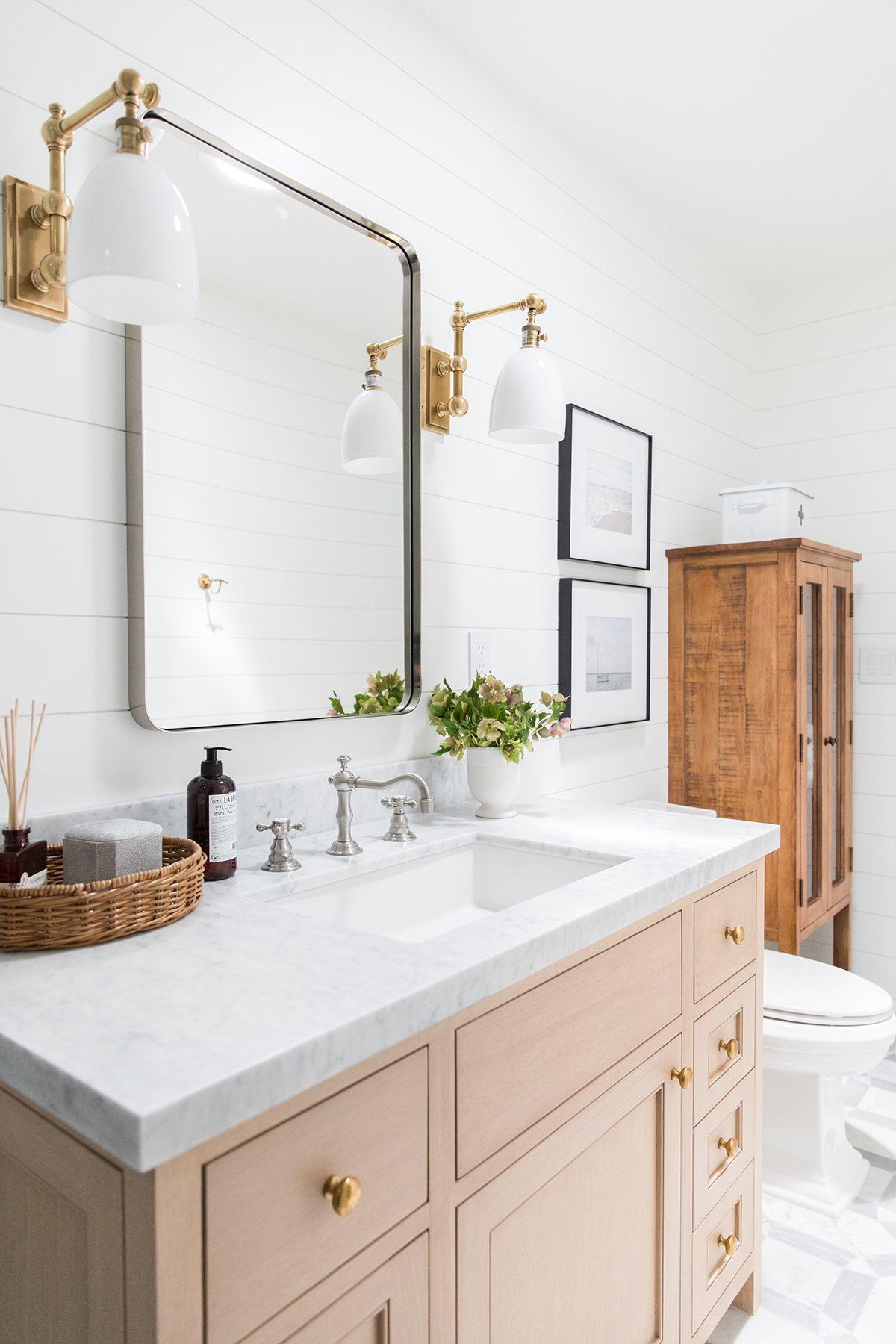 Oc Ranch Remodel Part Three Photo Tour Studio Mcgee Eclectic Bathroom Stylish Bathroom Eclectic Bathroom Design
