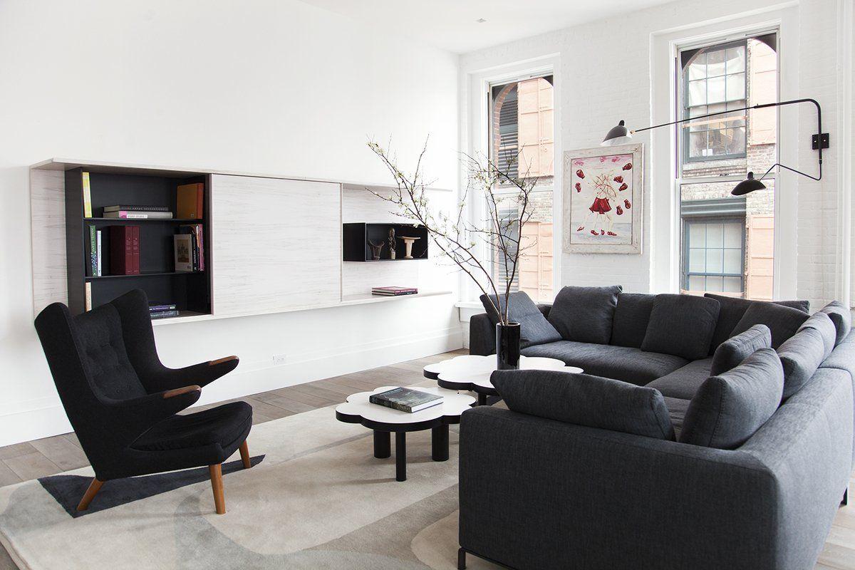 Contemporary Living Room in New York, NY by Ashe + Leandro   DEKOR ...