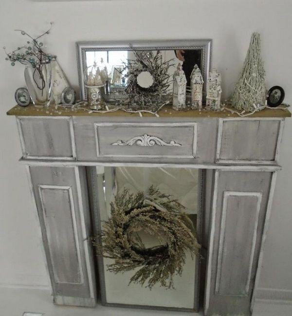 kaminumrandung selber bauen dekokamin anleitung vintage grau weiss faerben dekorieren kranz. Black Bedroom Furniture Sets. Home Design Ideas