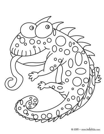 Funny Chameleon Coloring Page Vorlage Malen Pinterest Vorlagen