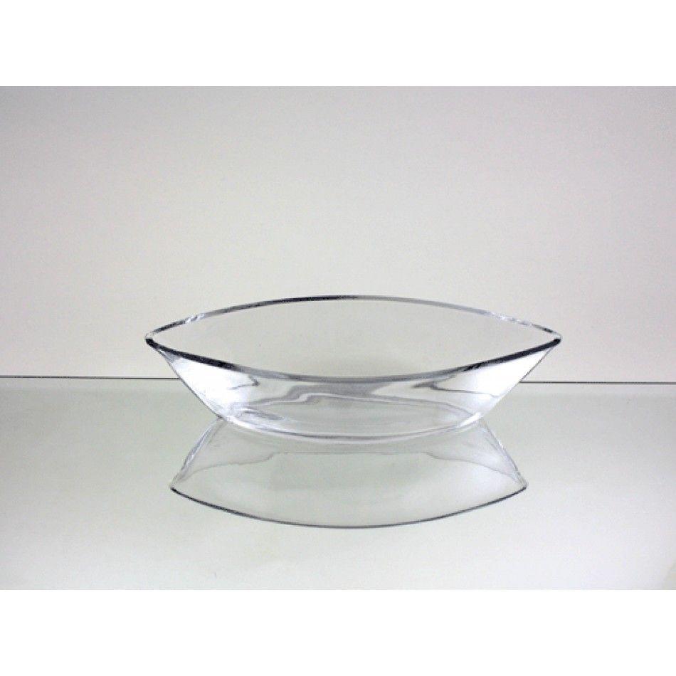 3 x 11 Clear Glass Boat Vase (BULK Case of 30 = $11.12 Per Vase ...