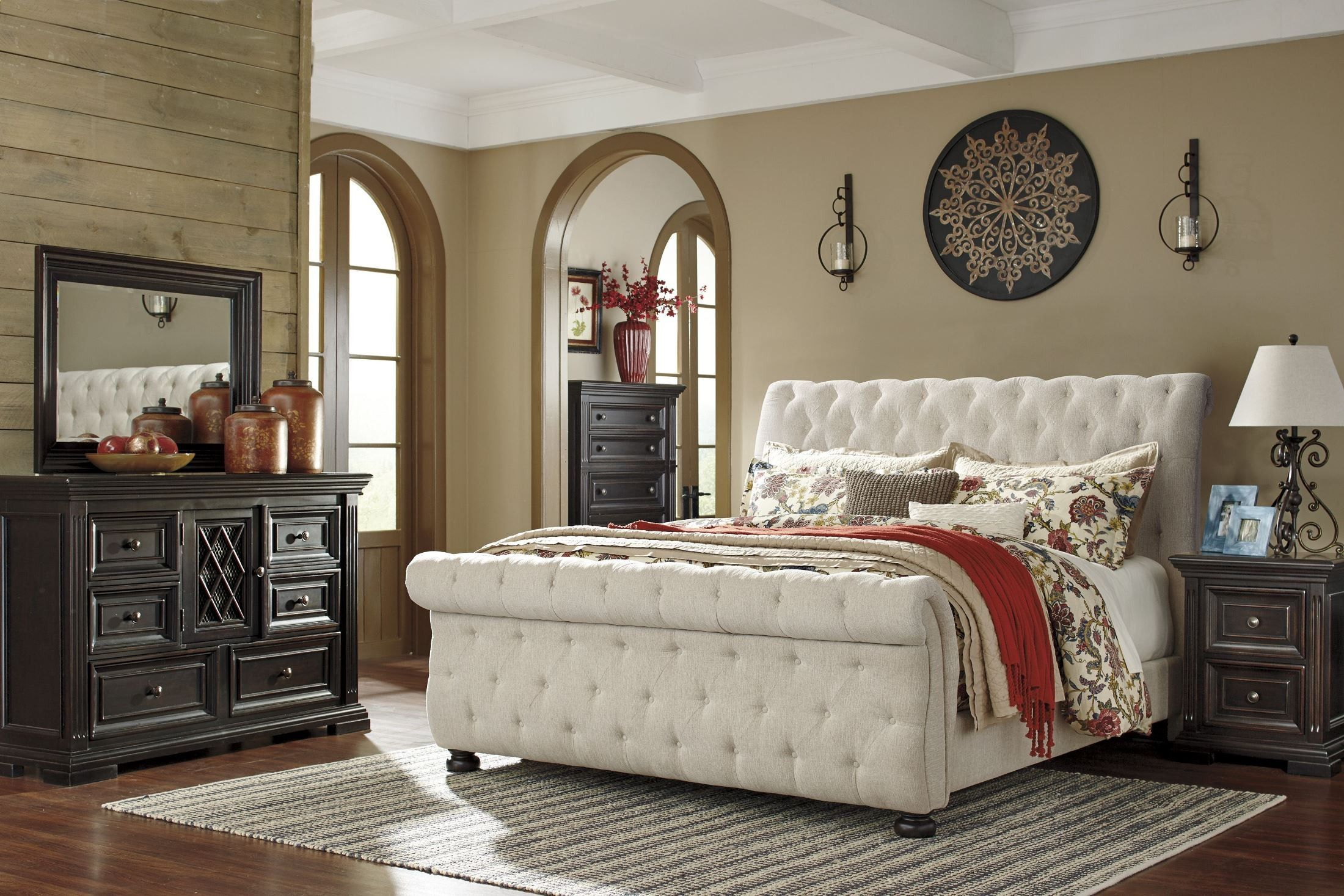 Willenburg Linen Cal King Upholstered Sleigh Bed | bedroom ...