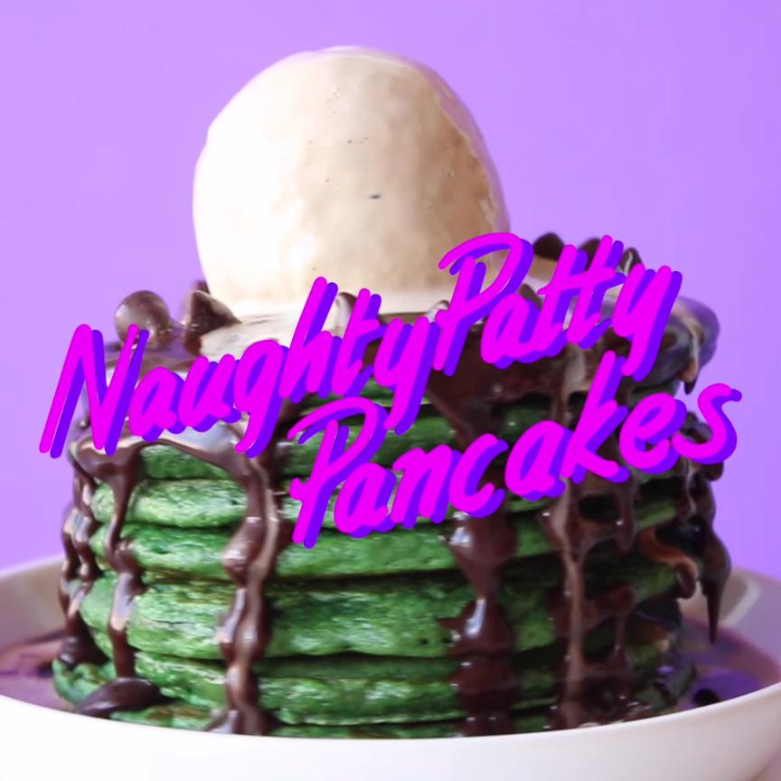 Patty Pancakes Recipe Coffee Ice Cream Icing And Tops