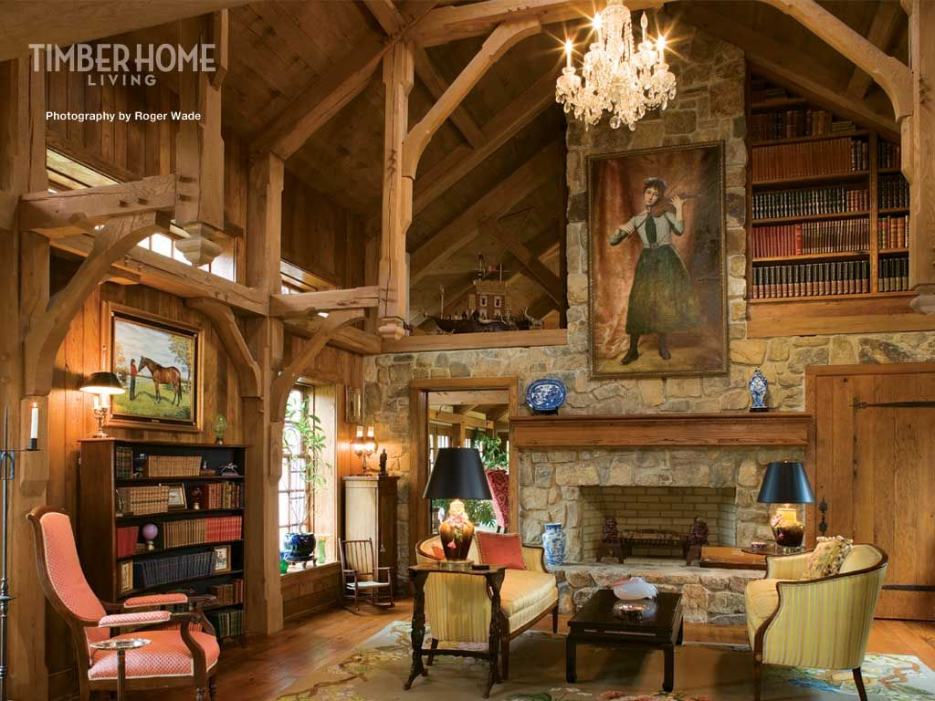 Interior Design Of Office Workspace Rustic Home Library