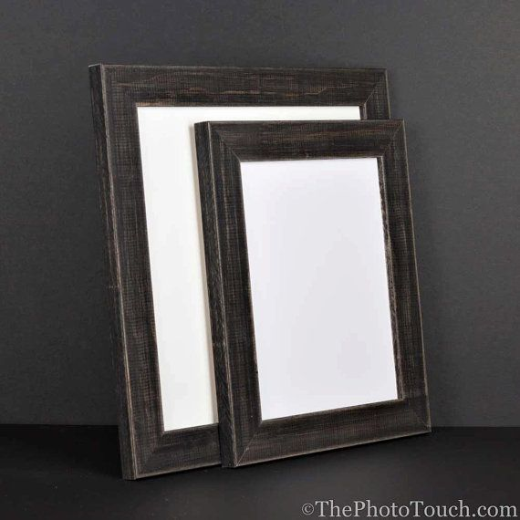 Rustic Black Picture Frame Reclaimed Distressed Barn Wood Style