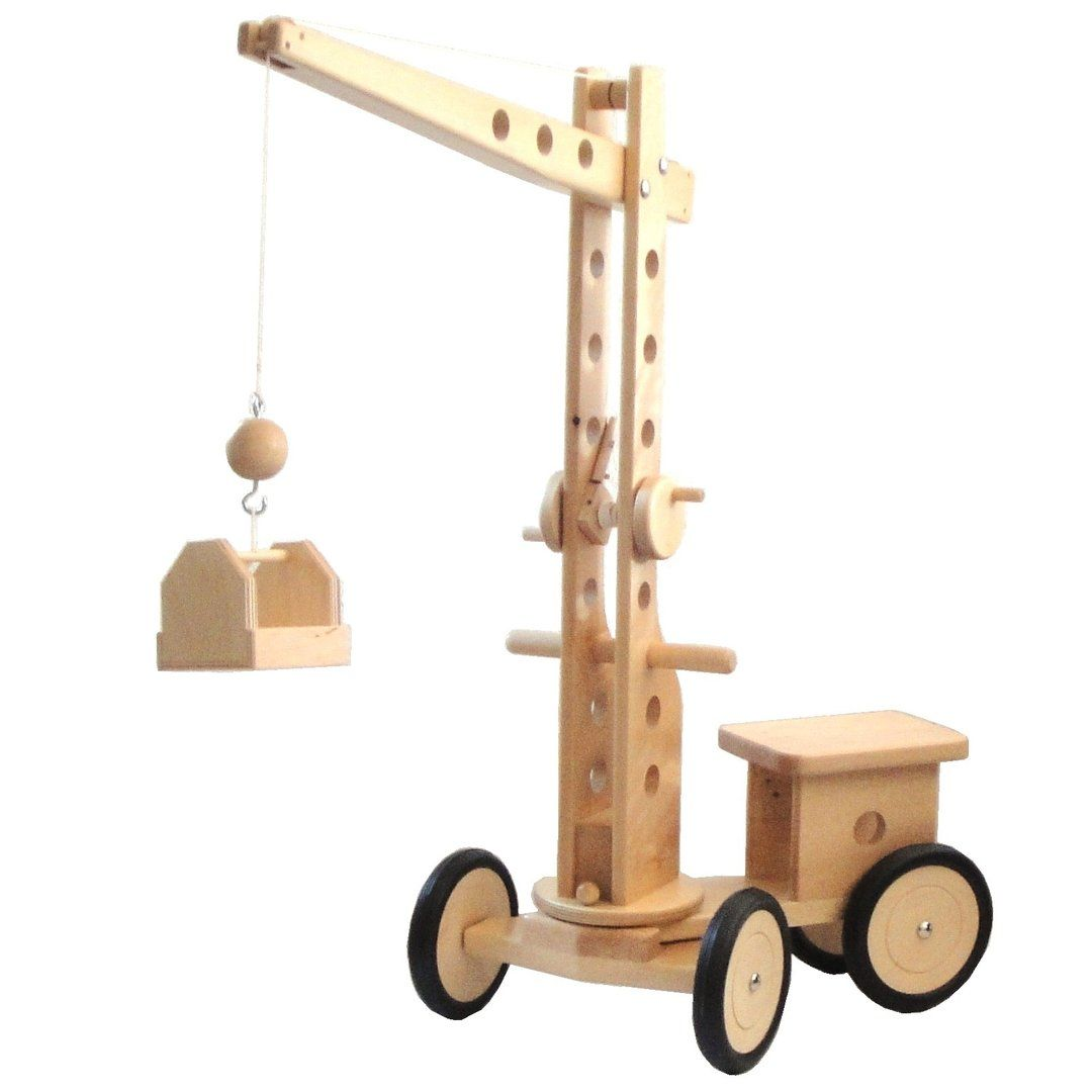Spielzeug Kran Holz