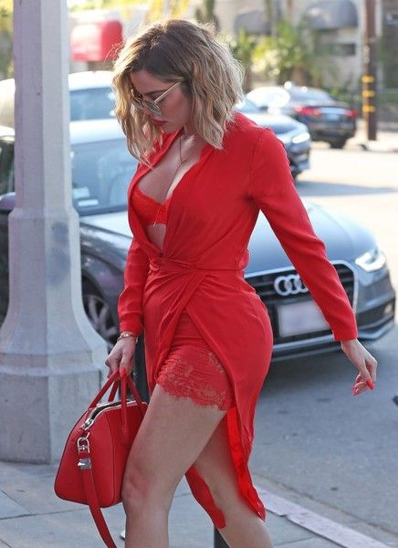 Khloe Kardashian Photos Photos: Khloe Kardashian Steps Out in Red