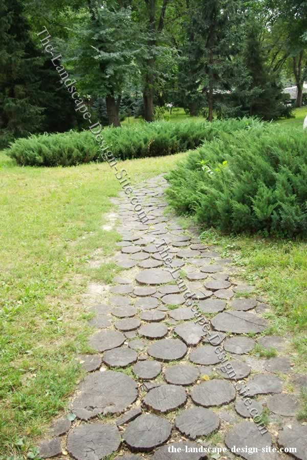 Good Petrified Wood Garden Path Steps · Garden PaversGarden StepsRound ...