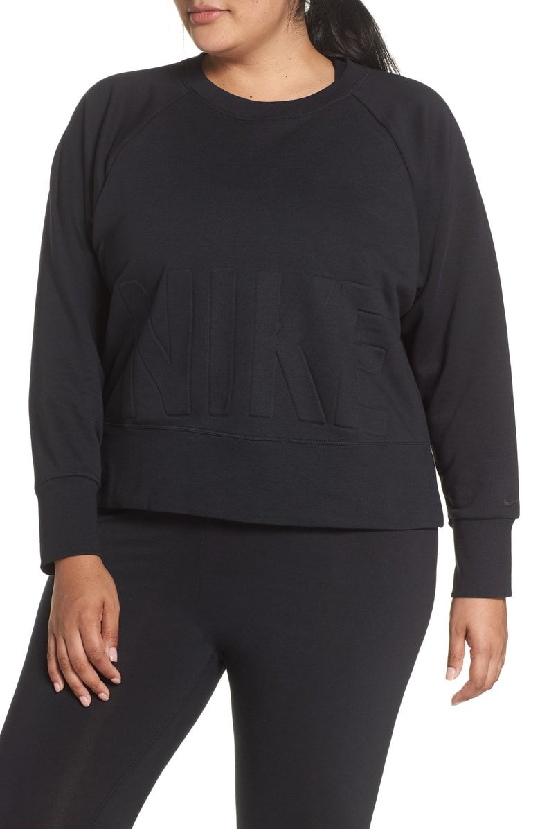 a215576a030 Free shipping and returns on Nike Dry Versa Training Top (Plus Size) at  Nordstrom.com.  p A cropped length adds to the freeing fit of a  sweat-wicking ...