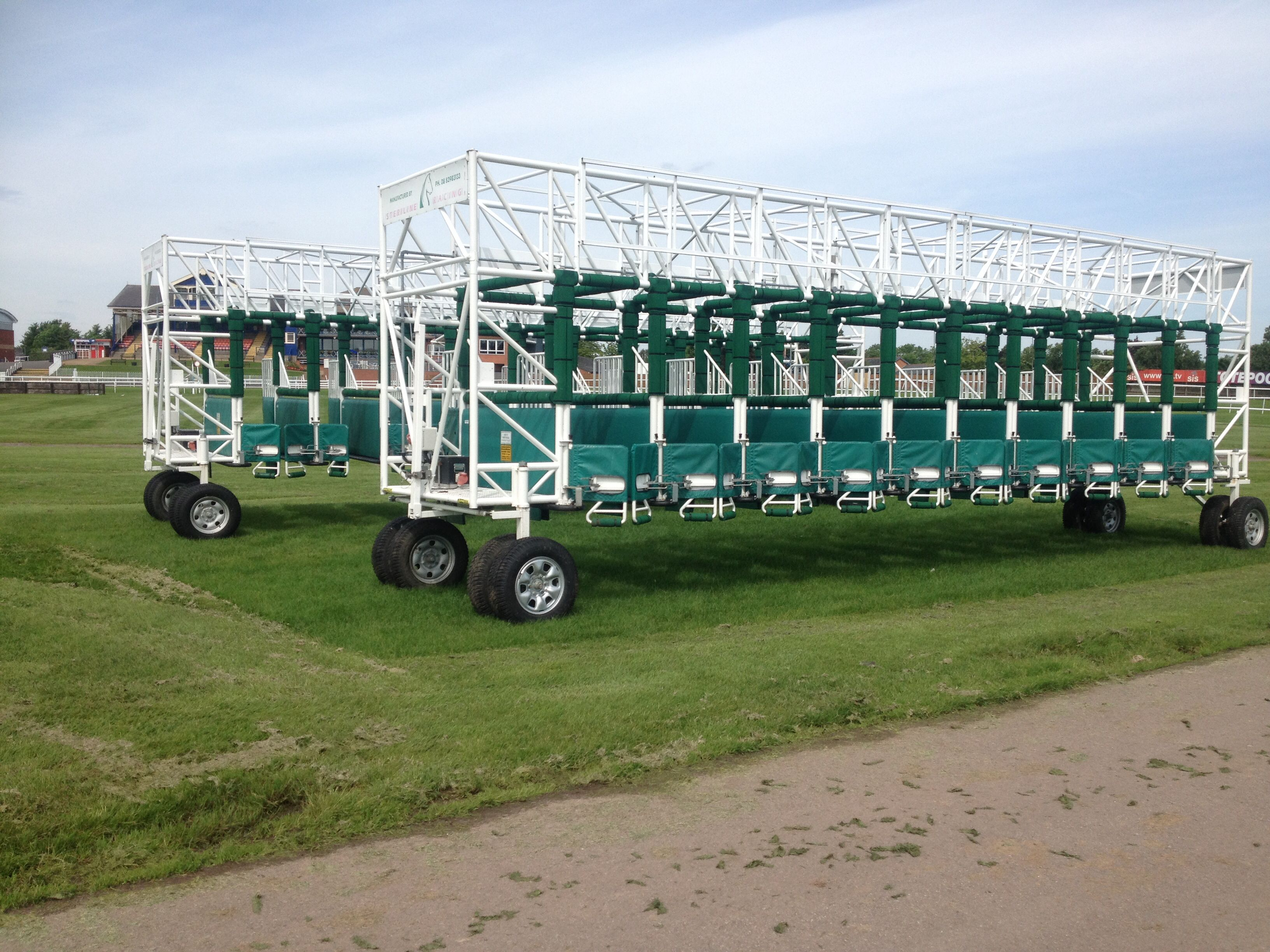 The Starting Stalls   Racecourse, Leicester, Photo