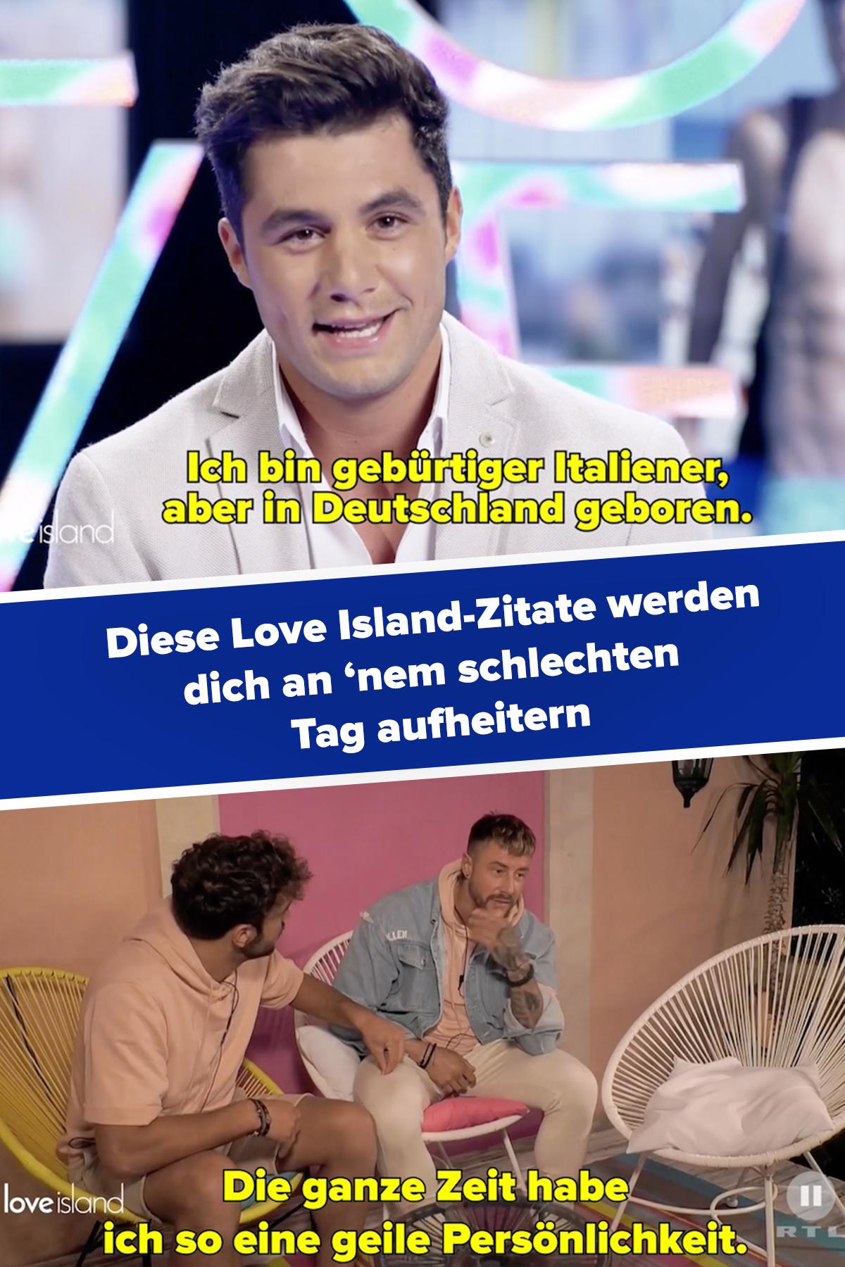 Hast Du Nen Schlechten Tag Denk Dran Was Leute Bei Love Island In Die Laufende Kamera Erzahlen Toller Korper Erzahlen Zitate