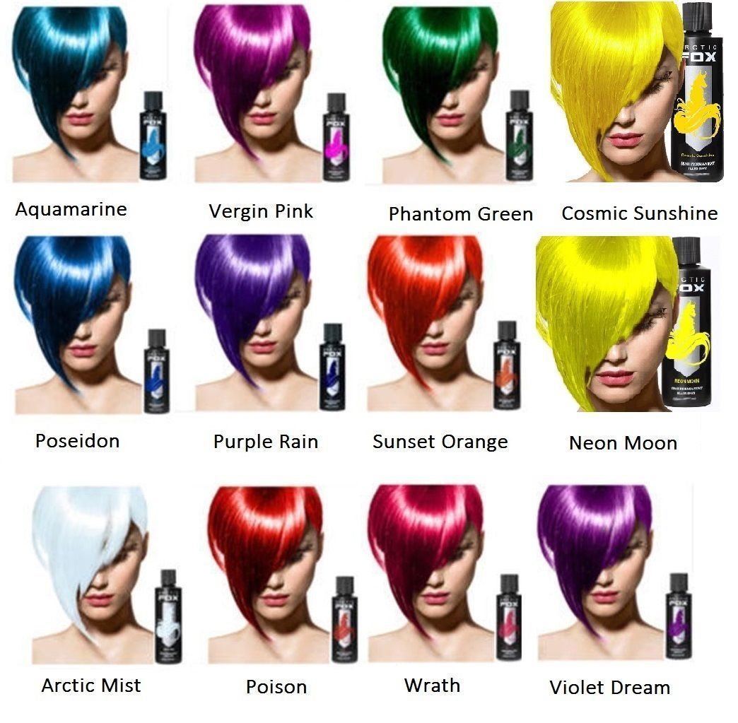 Arctic Fox 4 Oz Semi Permanent Hair Dye Bright Vibrant Hair Color 22 Colors Semi Permanent Hair Dye Permanent Hair Dye Fox Hair Dye