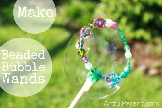 Diy Bubble Wands With Beads Bubble Wands Homemade Bubble Wands