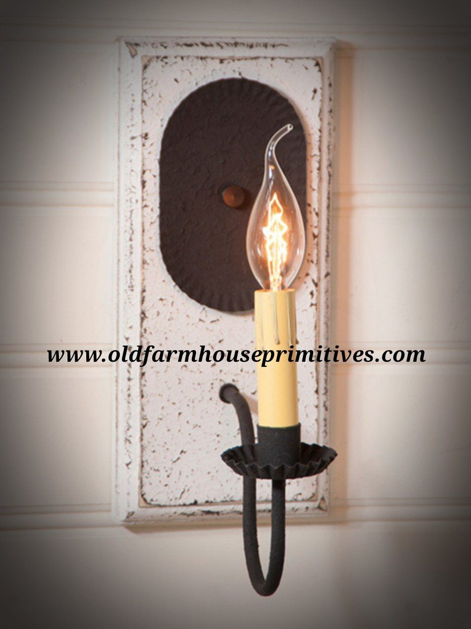 Wilcrest sconce in vintage white made in usa