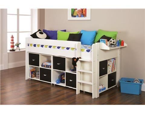 Uno4 Midsleeper Nero Cubes Last Year S Model Free Mattress Bed Ikea Bed Childrens Mid Sleeper Beds
