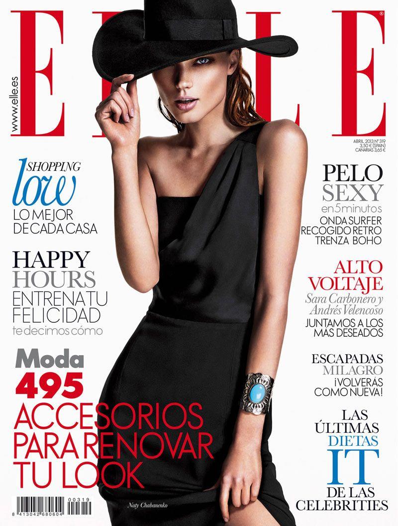 Naty Chabanenko Stars in Elle Spains April 2013 Cover Shoot by Xavi Gordo