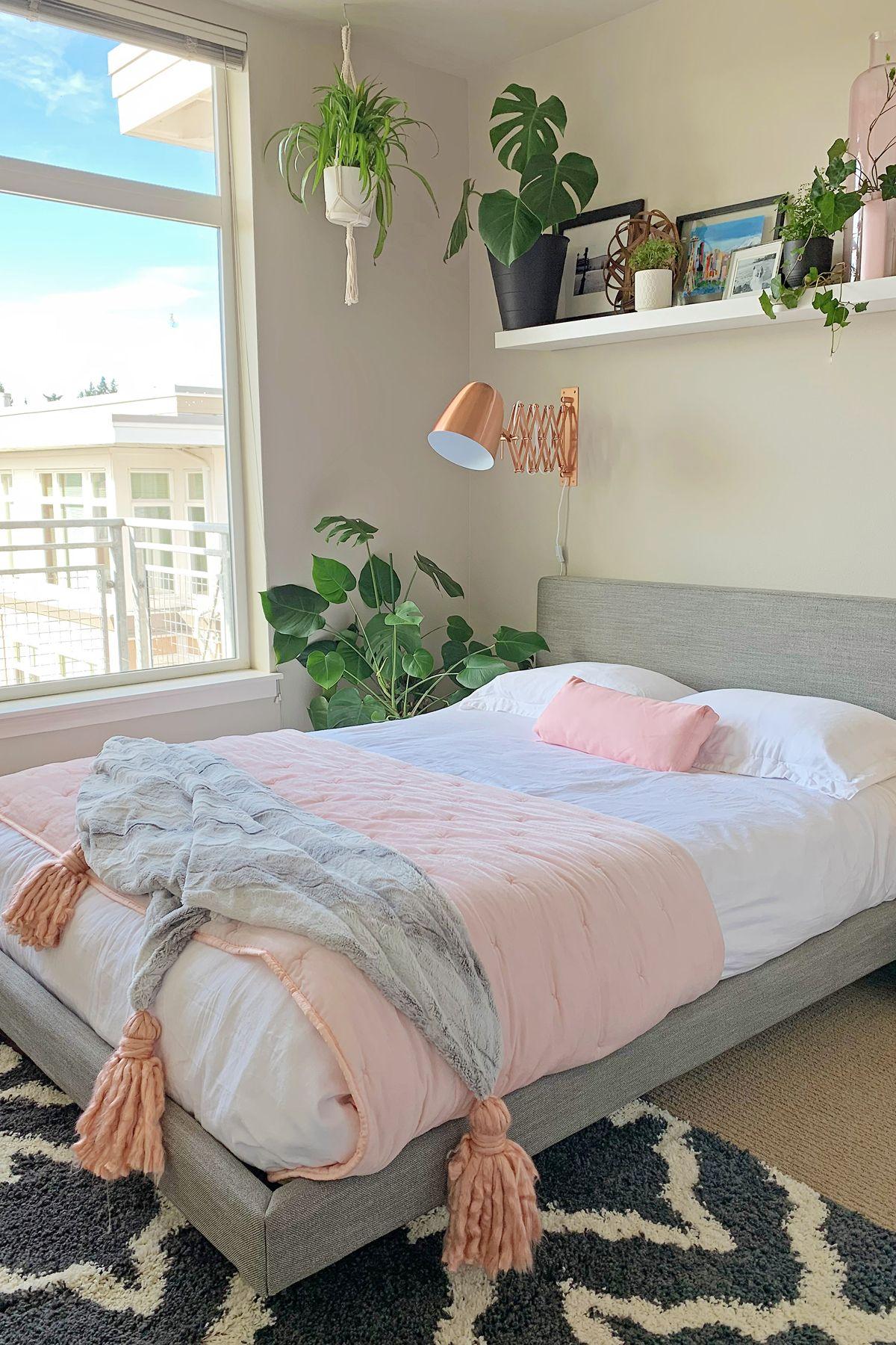 Tessu Glaze Gray Queen Bed In 2020 Girl Bedroom Decor Bedroom Interior Aesthetic Bedroom