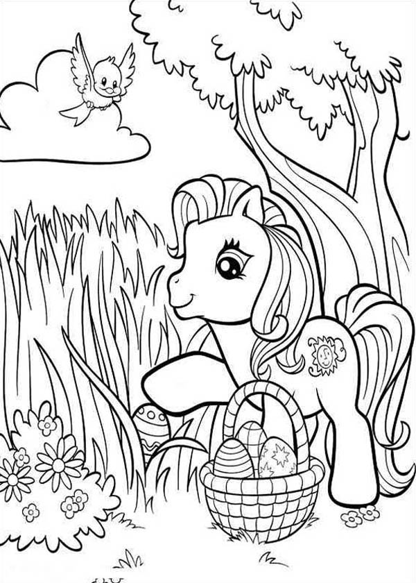 Finding Easter Eggs In My Little Pony Coloring Page Coloring Sky Easter Coloring Pages My Little Pony Coloring Cartoon Coloring Pages