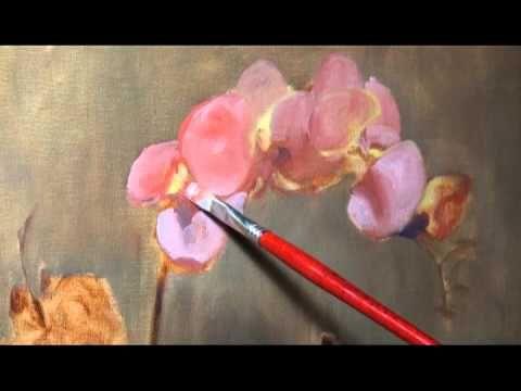 Olá, vem vêr, vem - Pink Orchid Painting Demo 10 - 11 - 12 - 13 - PASSO A PASSO COM RISCO