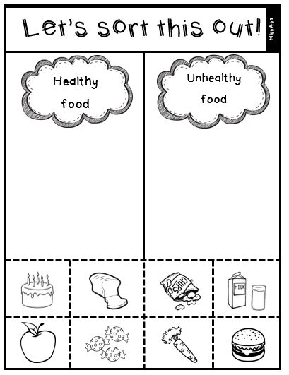 Image Result For Healthy And Unhealthy Food Worksheet Pdf Healthy And Unhealthy Food Unhealthy Food Unhealthy