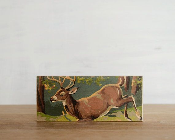 Paint by Number 'Leaping Buck' Art Block deer, stag