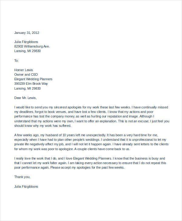 Business Apology Letter For Poor Customer Service Gidiye Letter