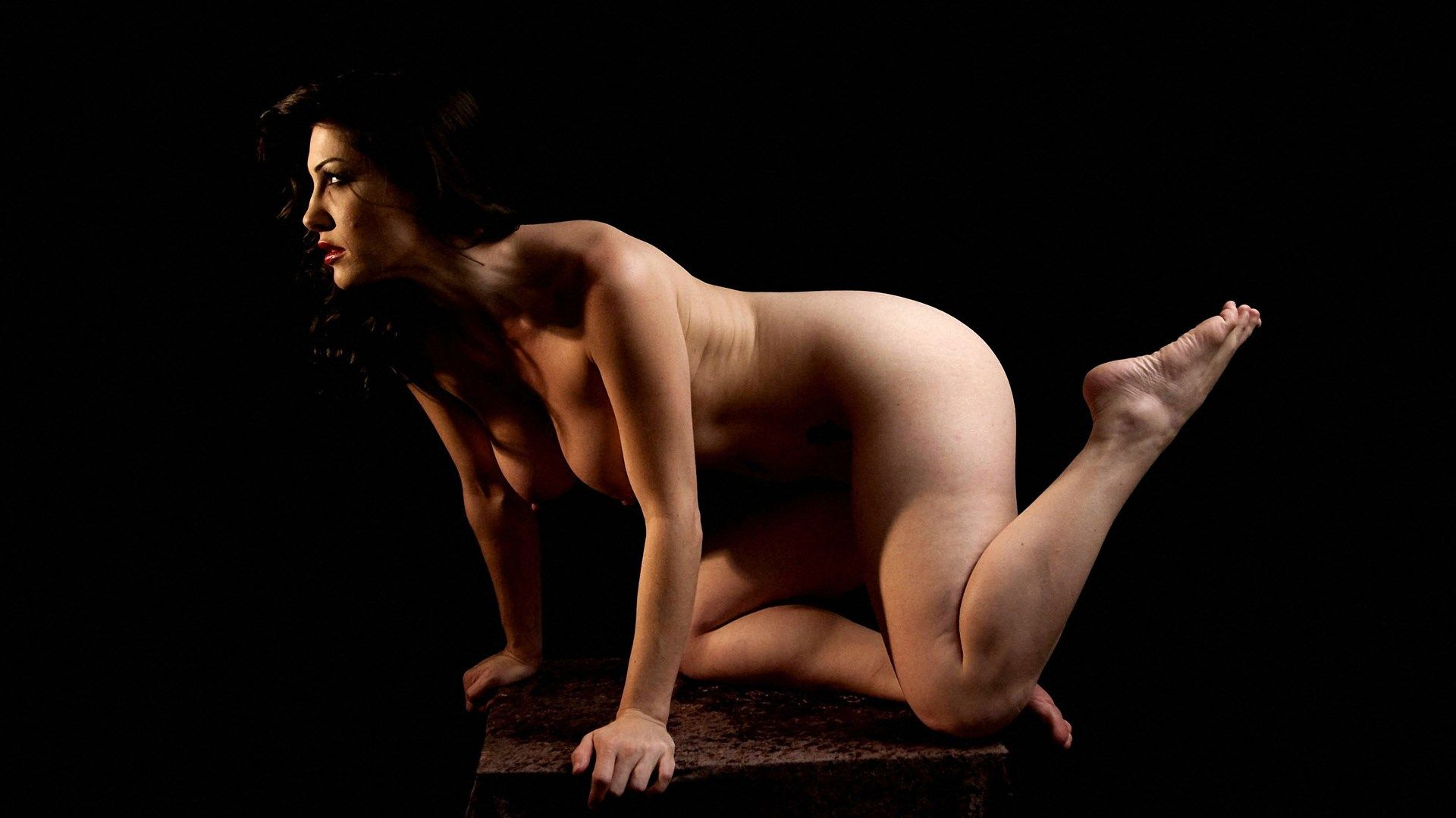 Posing nude for