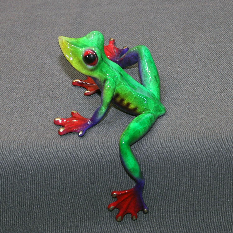 Bronze Frog Figurine Statue Sculpture Amphibian Art / Limited ...