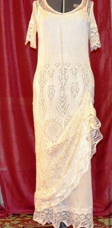 Платья ручной работы. Платье вязаное шёлковое