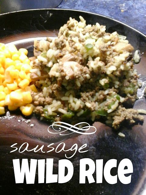 Sausage Wild Rice: made with turkey sausage, Low cost and healthy