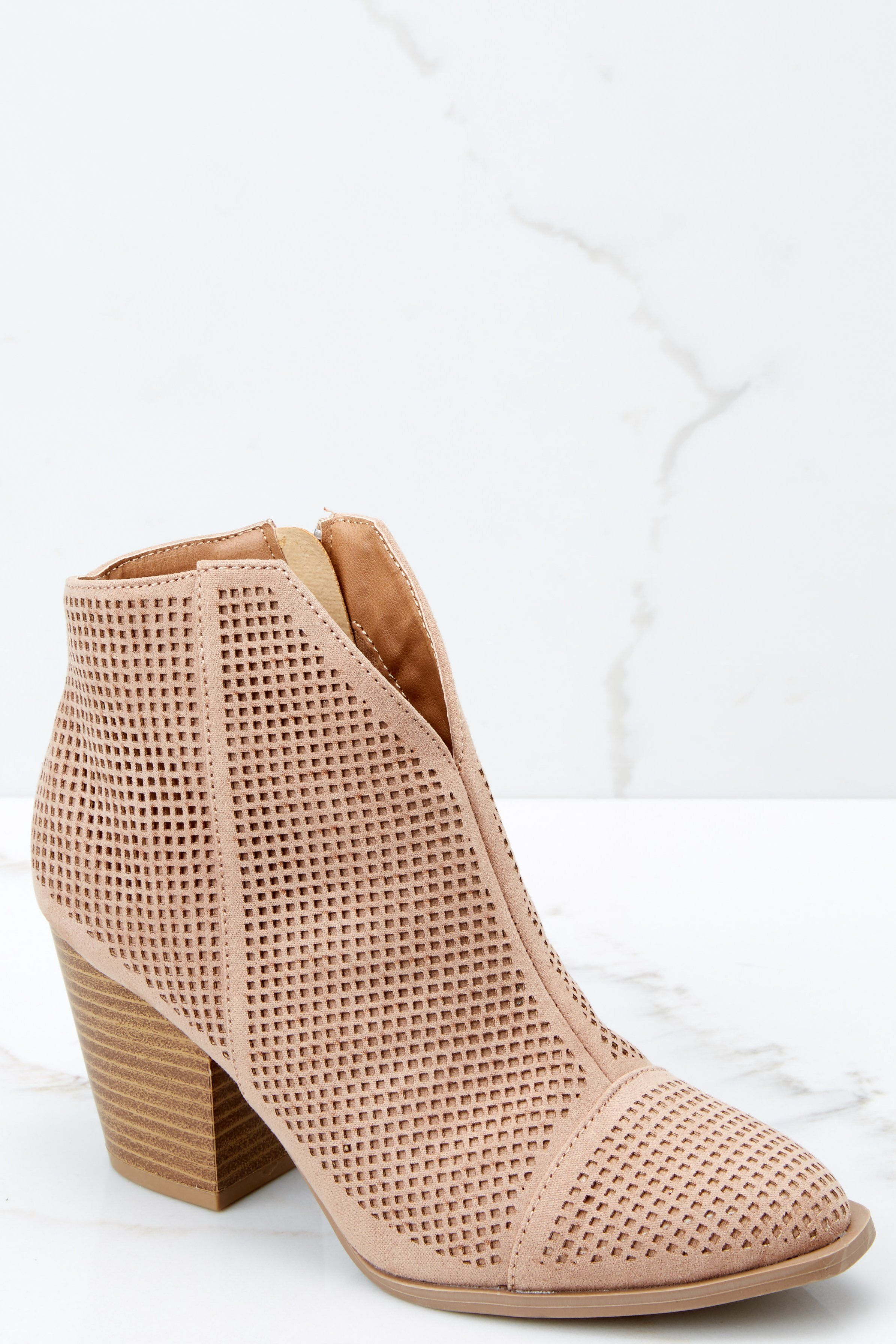 a5397af1177e5 Trendy Tan Ankle Booties - Cute Booties - Booties -  36.00 – Red Dress  Boutique