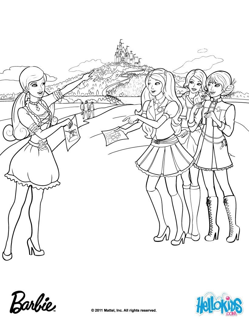 Barbie Princess Charm School Coloring Pages : barbie, princess, charm, school, coloring, pages, Barbie, Princess, Charm, School, Coloring, Pages, Google-søgning, Pages,, Sleeping, Beauty