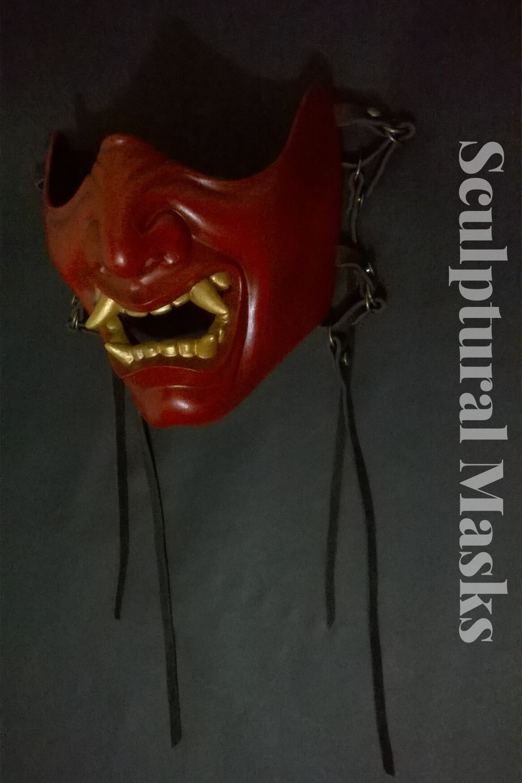 Samurai menpo armor mask in 2020 Sculpture, Japanese