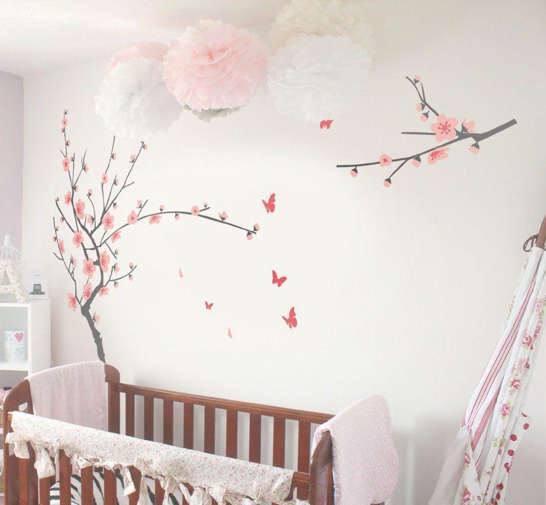 Amazon Com Tiktak Art Removable Cherry Blossom Japanese Sakura Tree Wall Decal Big Size Easy Peel And Stick Diy Decal Baby